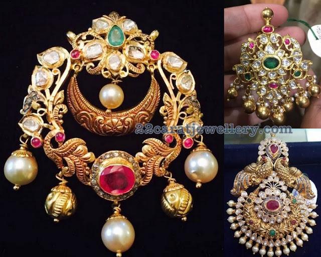 Attractive Pacha Work Peacock pendants