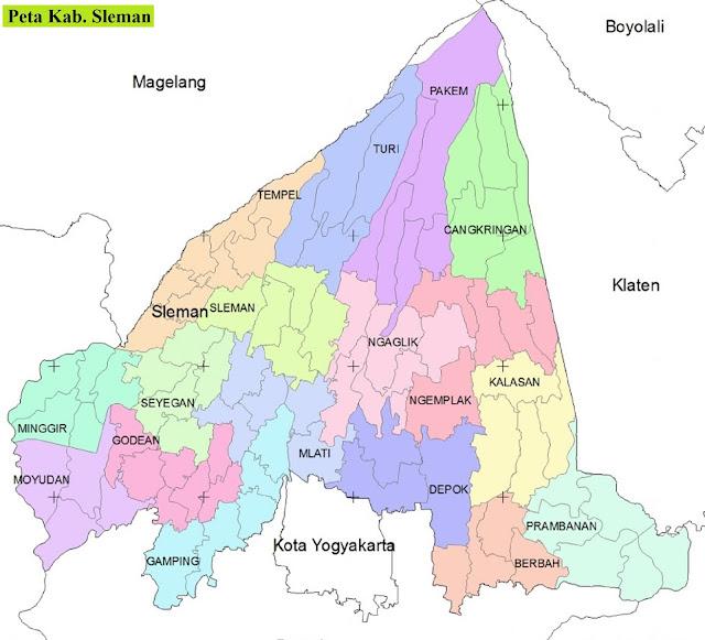 Peta Kabupaten Sleman