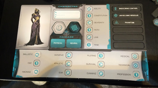 FAITH The Sci-Fi RPG character sheet