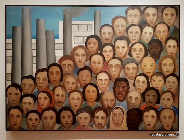 """Tarsila do Amaral no MoMA de Nova York - """"Operários"""""""