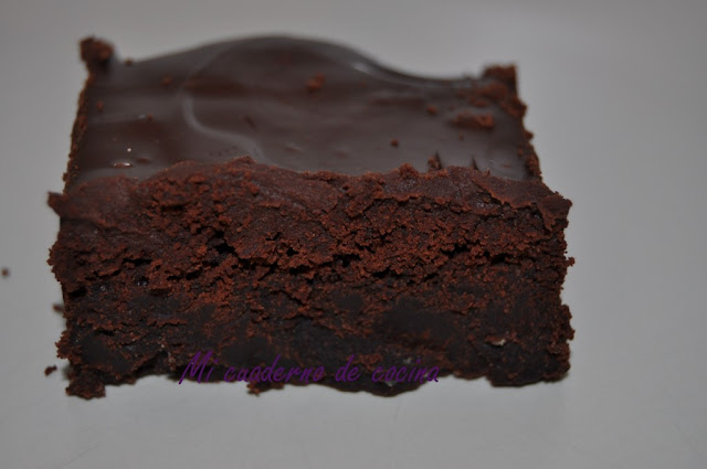 Chocolate mascarpone brownie