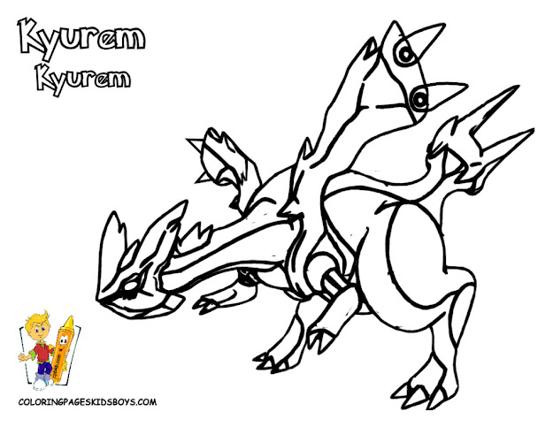 Black And White Coloring Sheets Druddigon Genesect Pokemon
