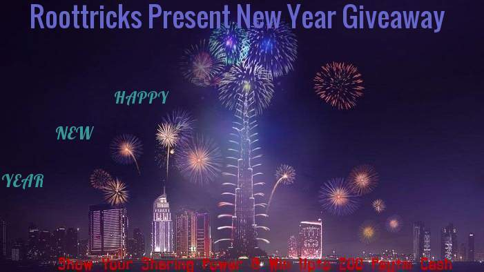 NewYear Giveaway - Share Us On Facebook And Get Upto Rs.200 PAYTM Cash Prize