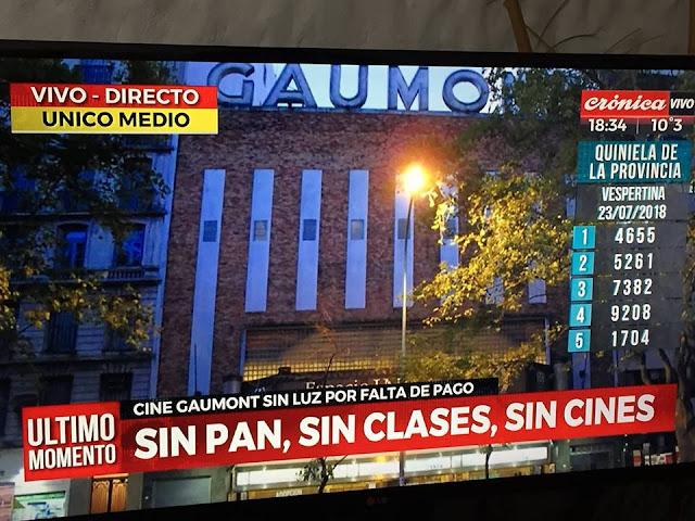 Humillación al cine argentino: el Gaumont cerrado por decisión de EDESUR