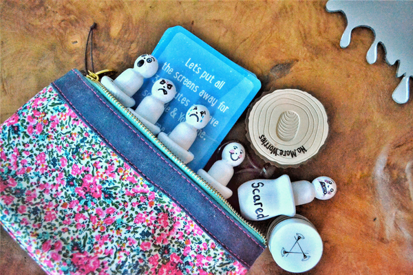 on the go worry bag for talking about feelings and emotions