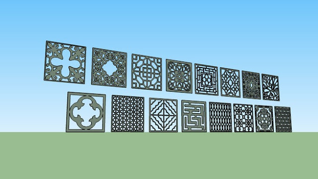 Sketchup 3D Free model collection – 3D Partition CNC 2
