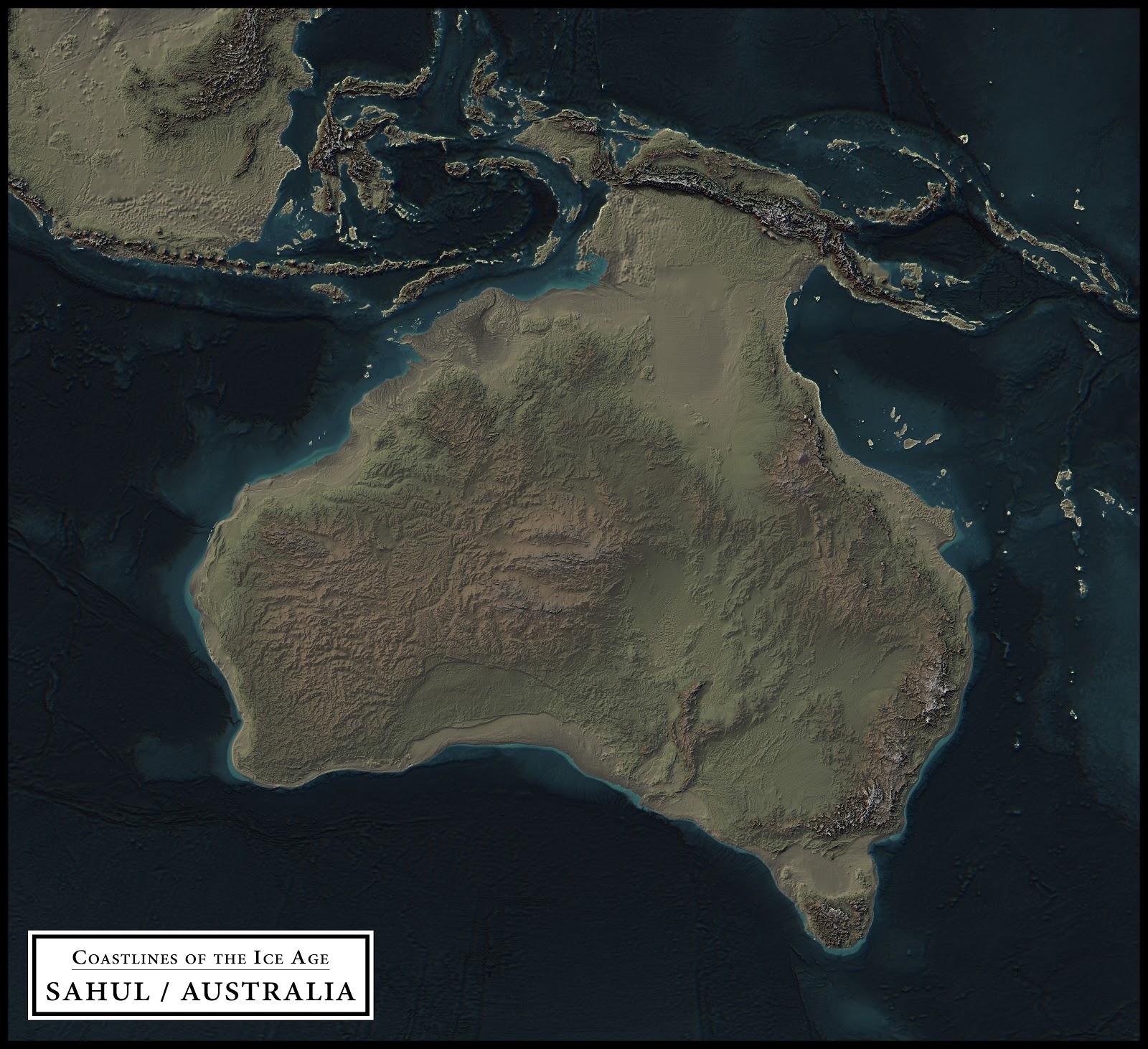 Coastlines of the ice age ecoclimax sahul australia gumiabroncs Gallery