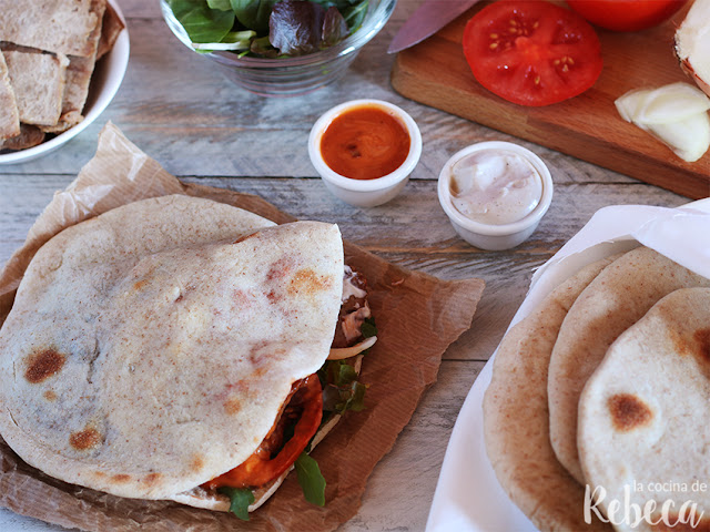 Doner kebab casero