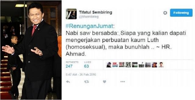 Mantan Menteri Komunikasi dan Informasi Tifatul Sembiring berani melawan kampanye LGBT yang kian marak.