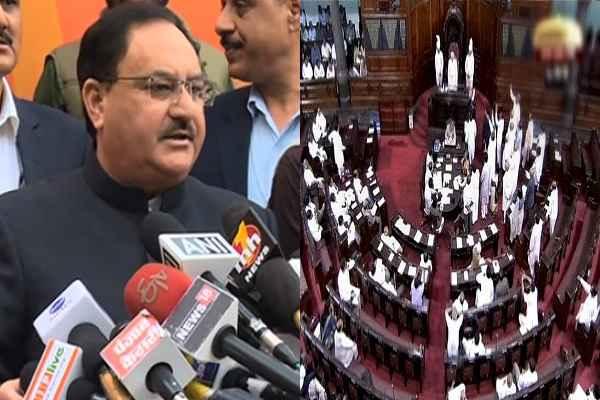 राज्य सभा में कांग्रेस से कम हुई BJP की एक सीट, जेपी नड्डा देंगे इस्तीफ़ा
