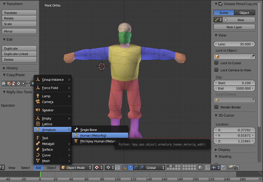 Nerd Club: Rigify for Blender with Unity