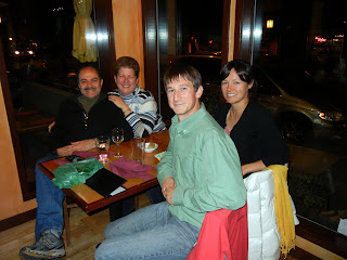 Abi, Patti, Sky and I at dinner in Ashland
