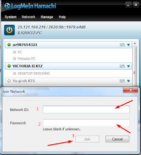 Hamachi, Network, Join Network