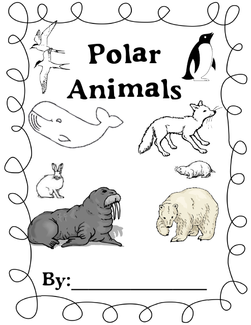 Camp kindergarten a little whining polar animals and a for Polar animal coloring pages