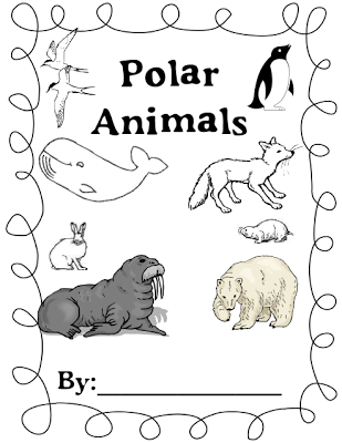 Printable border coloring pages for Polar animal coloring pages