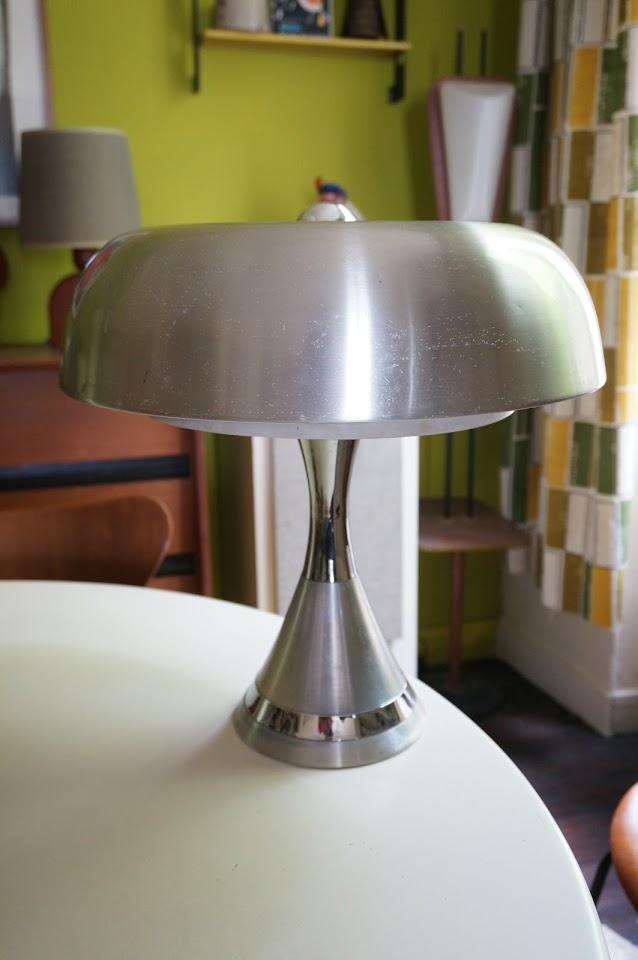 70s aluminium lamp 1970s lampe années 70