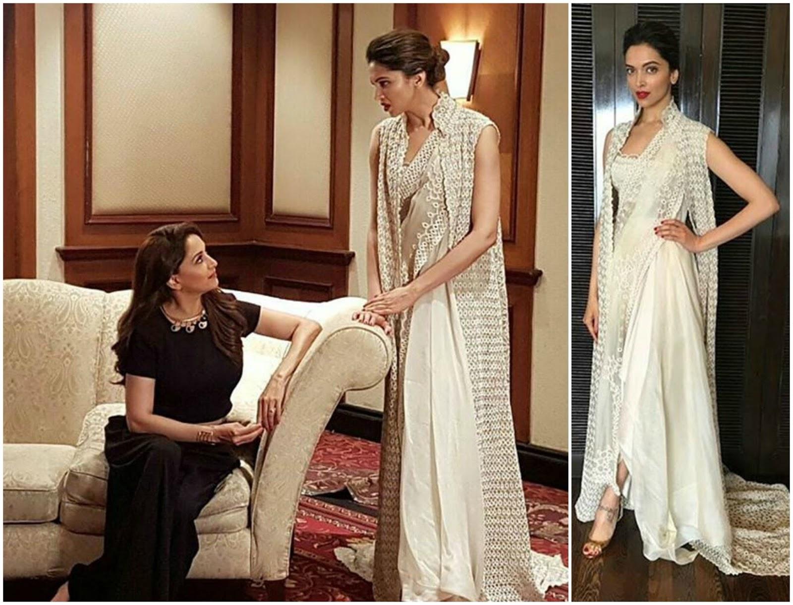 Deepika Padukone in Anamika Khanna | GlitzyCorner