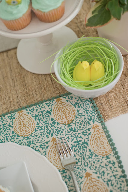 Easter candy themed tablescape