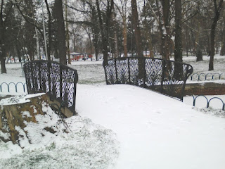 Yambol, Snow Covered, Bridge, Rose Garden, Moat, Yambol City Park,