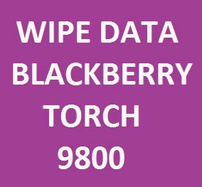 Factory reset manual for Blackberry torch