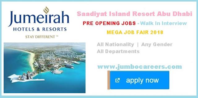 | Jumeirah Saadiyat Island Resort Job Salary