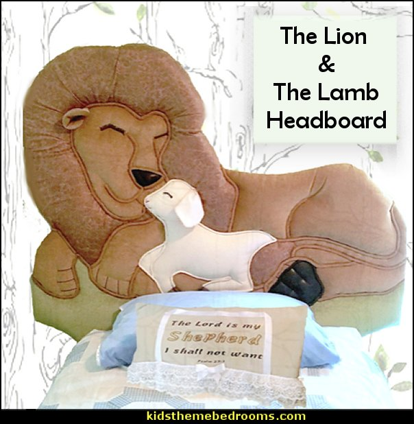 the lion and the lamb headboard  Animal themed toddler Beds - themed beds - fun kids theme beds - toddler animal beds - kids themed beds - kids room furniture - animal themed headboards - Animal Shaped Beds for toddlers - girls beds - boys beds - kids rooms wall decorations - playroom beds - unique furniture -  fun furniture - toddler bedding - Pajamas