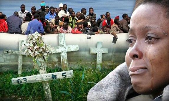 3800 african migrants drowns Mediterranean 2016