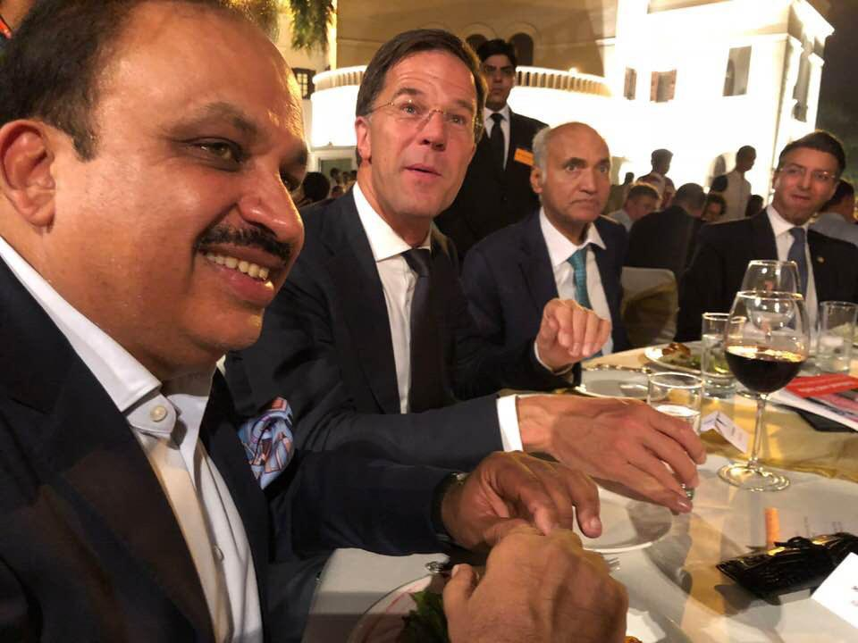 Pankaj M Munjal with Mark Rutte