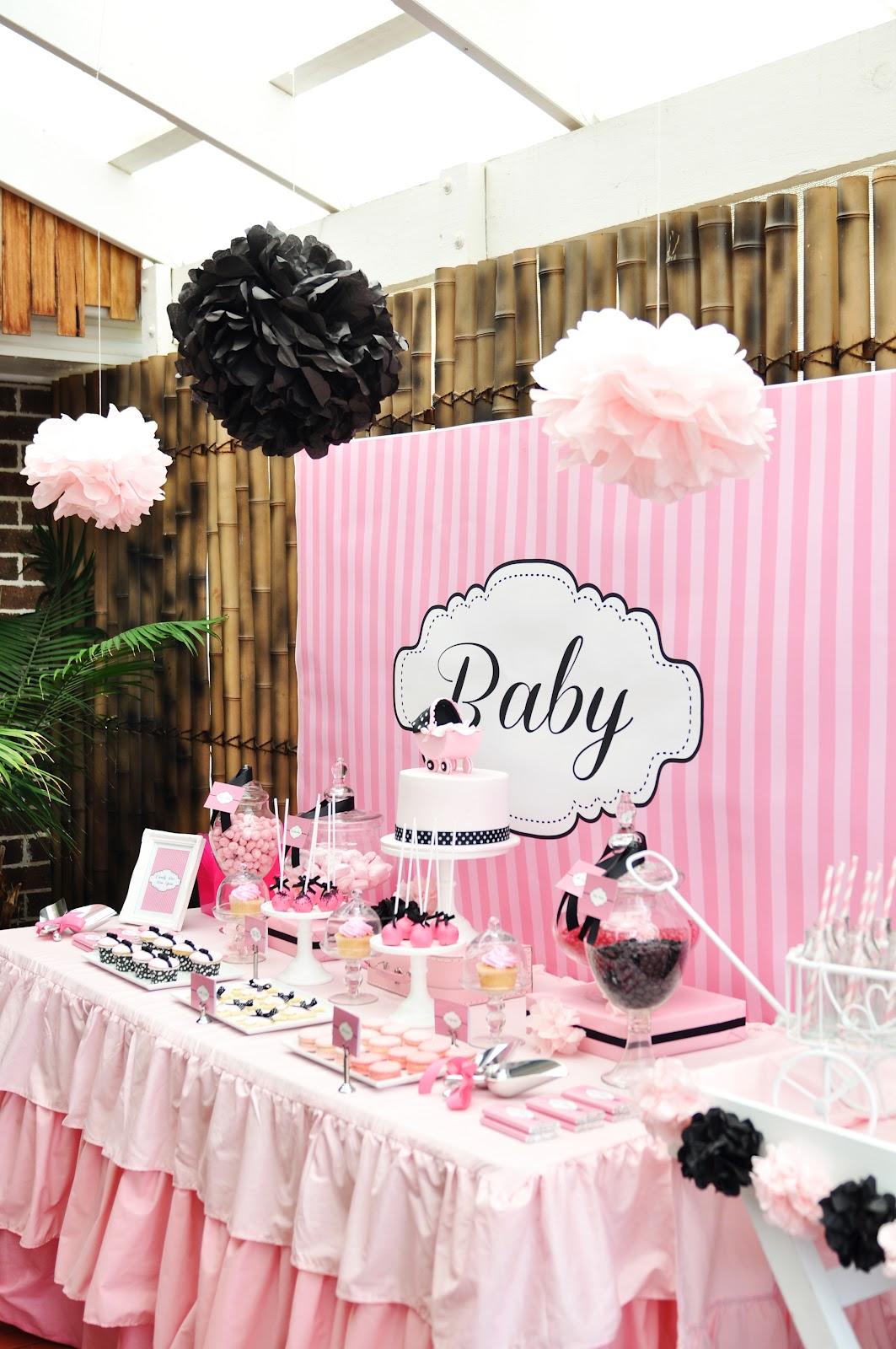 Studio Cake Pink White And Black Baby Shower