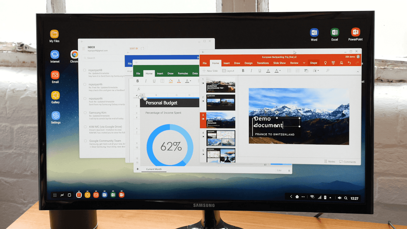 Samsung DeX without the dock is awesome! See video