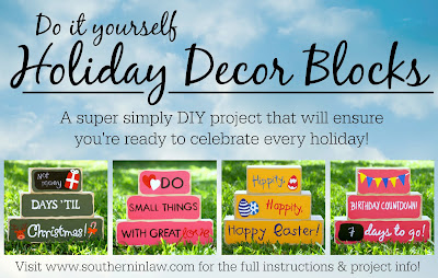 Do It Yourself Holiday Decor Blocks DIY Project
