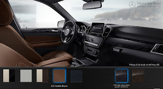 Nội thất Mercedes GLE 400 4MATIC Exclusive 2017 màu Nâu Saddle 224