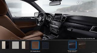 Nội thất Mercedes GLE 400 4MATIC Exclusive 2019 màu Nâu Saddle 224