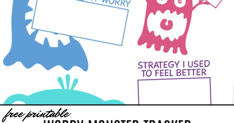 Free Printable Worry Monster Tracker