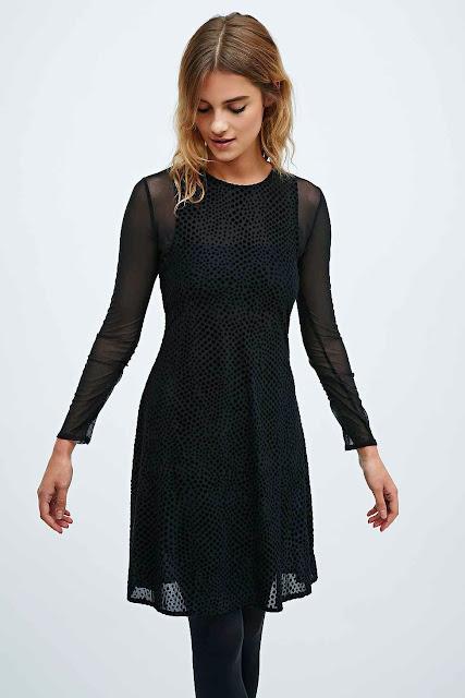 velvet spotty dress