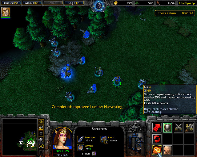 Sorceress Screenshot I Warcraft 3: Reign of Chaos