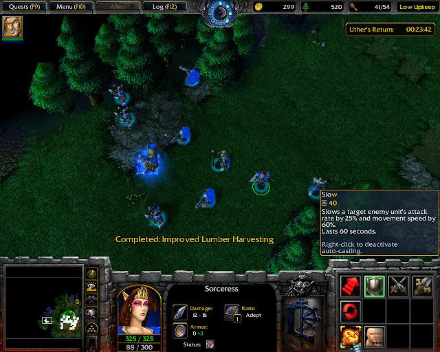 Sorceress Screenshot I Warcraft 3: Reign of Chaos