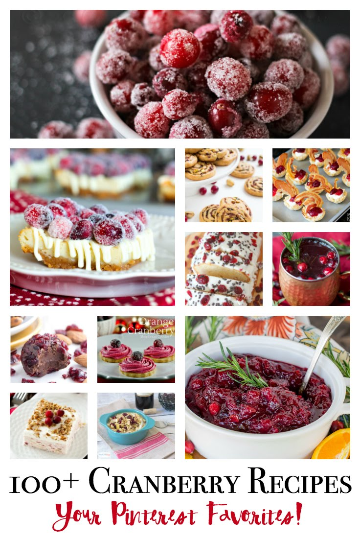 100 of your favorite pinterest Cranberry recipes