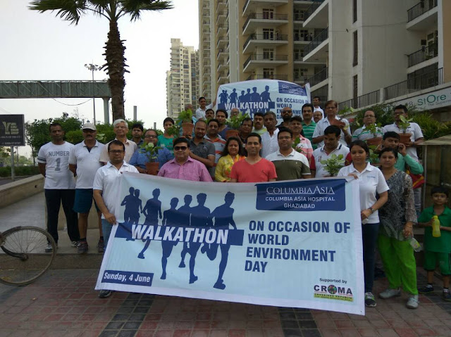 On World Environment Day, Columbia Asia Hospitals, Ghaziabad conducts walkathon to revive greenery in the city, urge residents to come forward and contribute to greenification