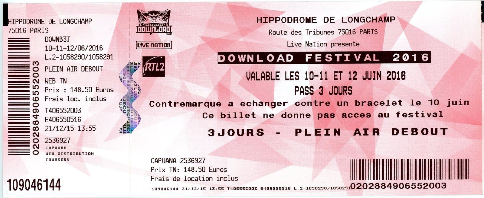 7acdf97ae ... BACK TO THE OLD CONCERTS ~~~~~: DOWNLOAD 2016: RAMMSTEIN - VOLBEAT -  SABATON - MEGADETH - NEW YEARS DAY - ... - ~ L'Hippodrome de Longchamp.  Paris