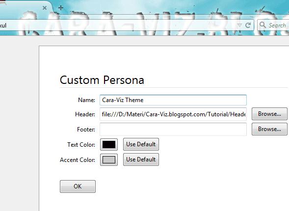 Cara Mudah Membuat Tema Firefox Sendiri