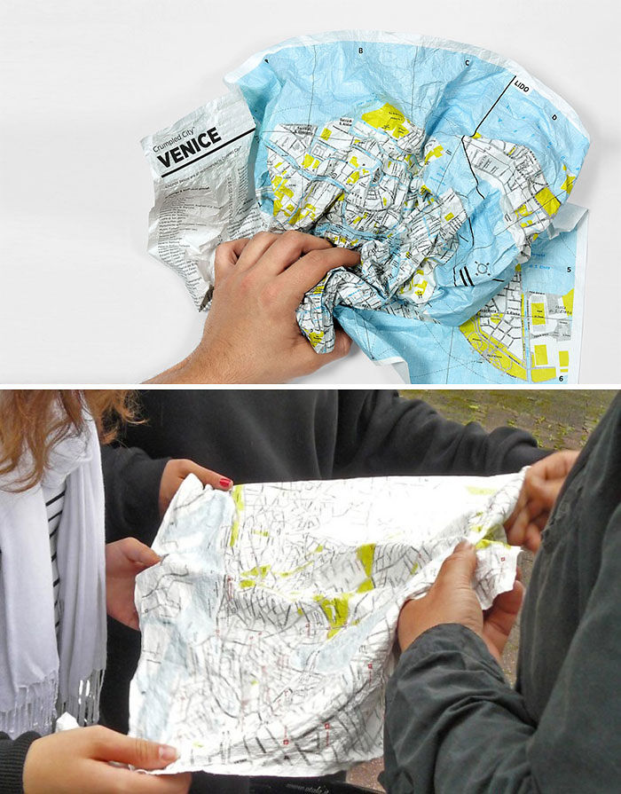 15+ Of The Best Traveler Gift Ideas Besides Actual Plane Tickets - Crumpled City Maps That Are Waterproof And Crumple-Proof