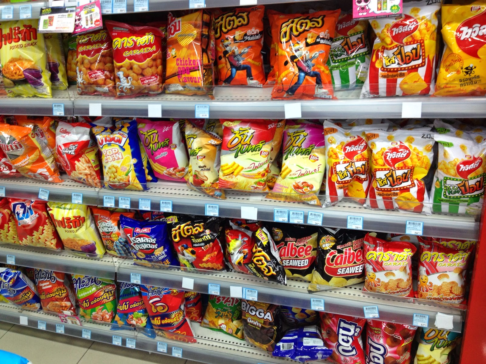 Chiang Mai - I love checking out the snacks section in foreign countries