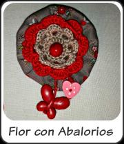 Flor con abalorios