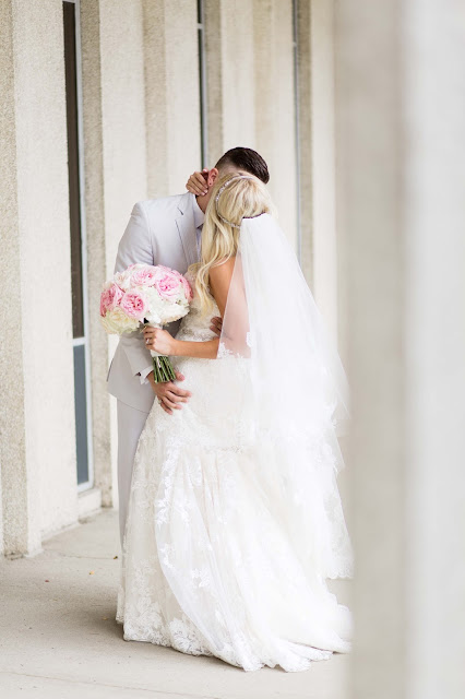 Bride and groom at Wayne State