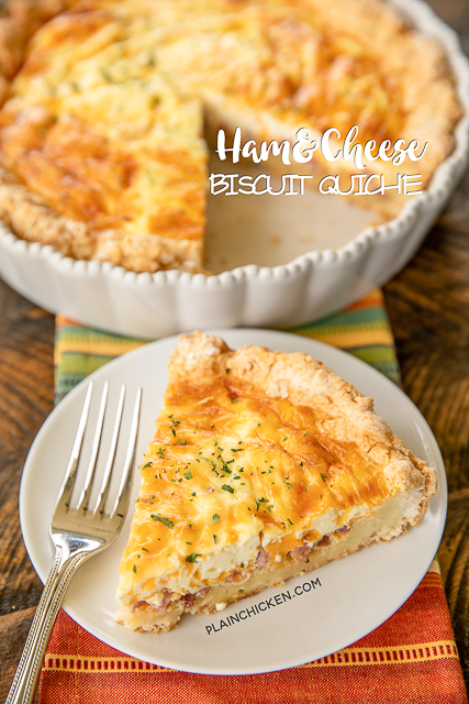 Ham & Cheese Biscuit Quiche