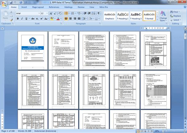 RPP Kelas VI (6) Kurikulum 2013 Revisi 2018 Semester 1 dan 2 Lengkap