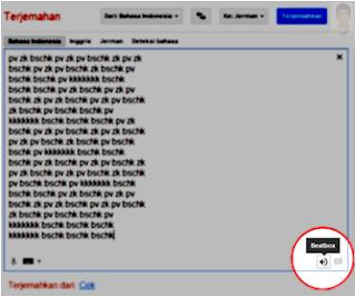 Musik Beat Box Keren Dari Google Translate jonarendra terjemahan