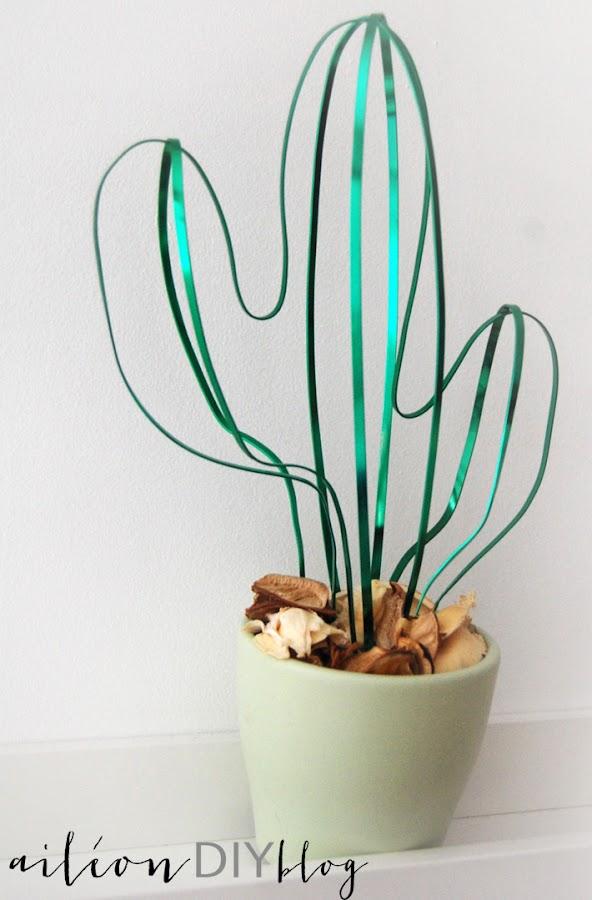 cactus diy casero aluminio
