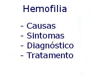 Hemofilia causas sintomas diagnóstico tratamento prevenção riscos complicações